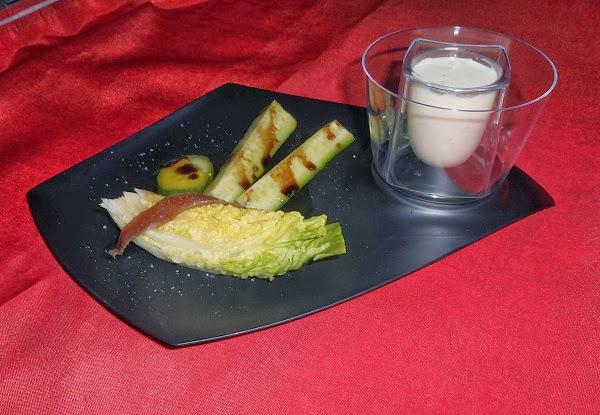ensalada ecológica con salsa cesar