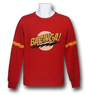 Click here to purchase your Big Bang Theory Bazinga sweater at SuperHeroStuff!