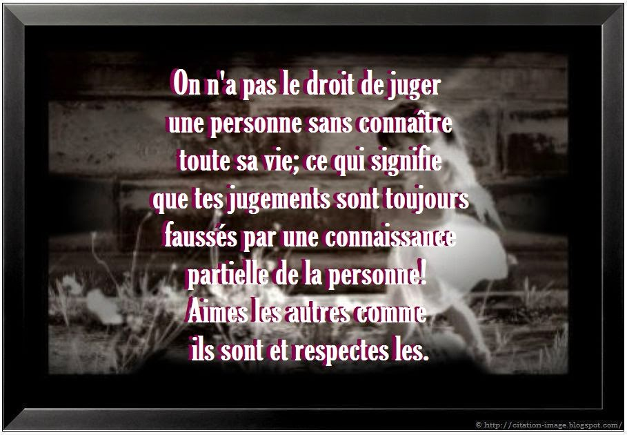 Jolie citation juger en image