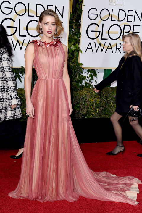 Golden Globes Amber Heard Gucci