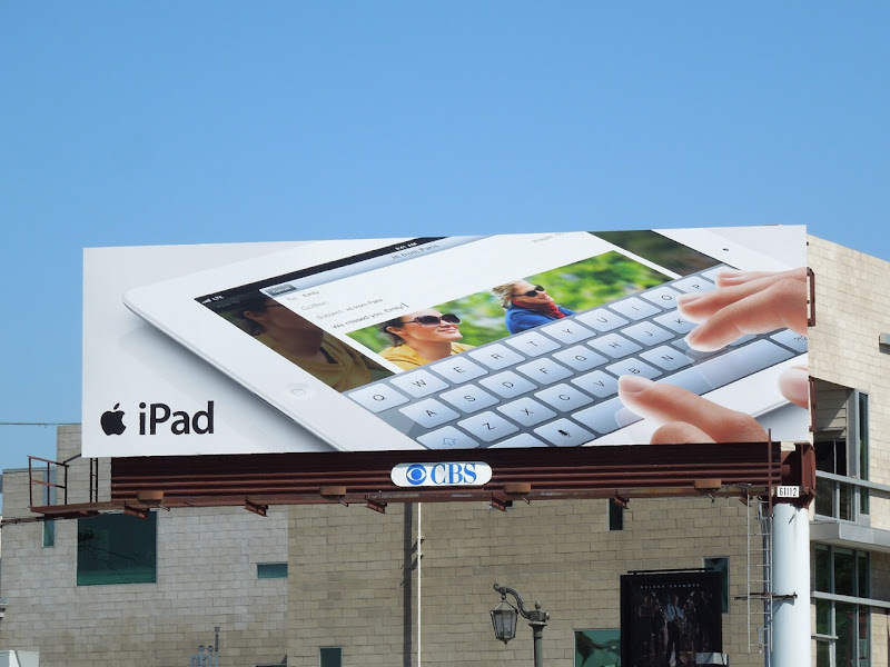 Apple iPad email keyboard billboard
