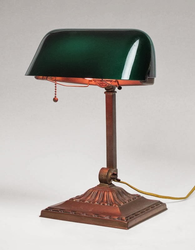 Vintage wednesday emeralite the bankers lamp aloadofball Image collections
