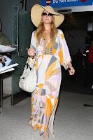 Paris Hilton stylish dress and sunglasses