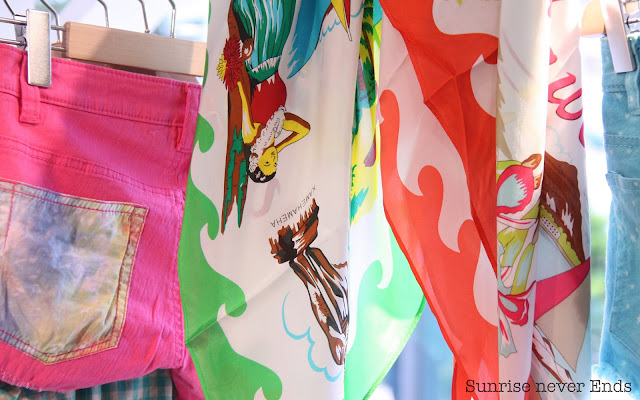 foulard,aloha,bensimon,hossegor,tue and dye,short,bteam by bensimon