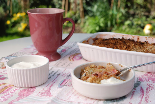recette crumble rhubarbe gingembre