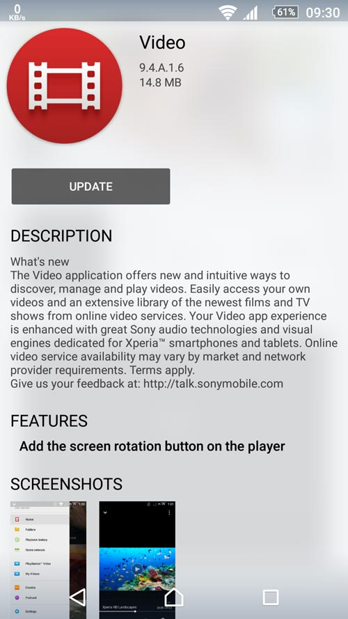 Sony Video 9.4.A.1.6
