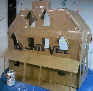 Mill pond fright night building a haunted doll house for How to make a cardboard haunted house
