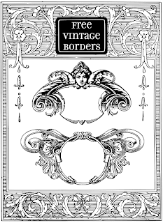 vintage borders, borders, frames, ornaments, free, clipart, clip art