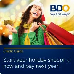 Buy Now Pay Next Year with BDO Credit Card