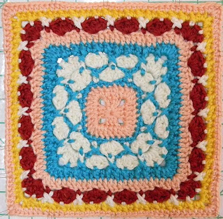 Free granny square crochet pattern - Beauty in Excellence 12""