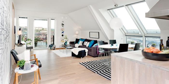 apartamento minimalista en buhardilla - Buhardillas Modernas