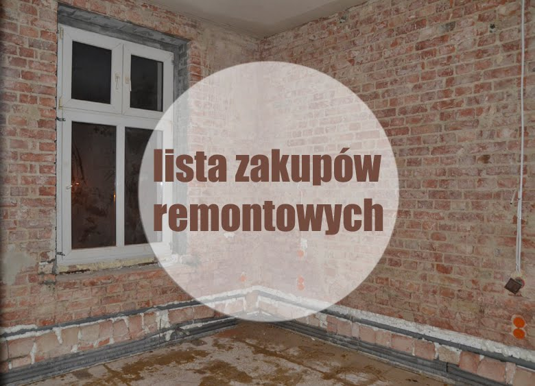 lista zakupów remontowych