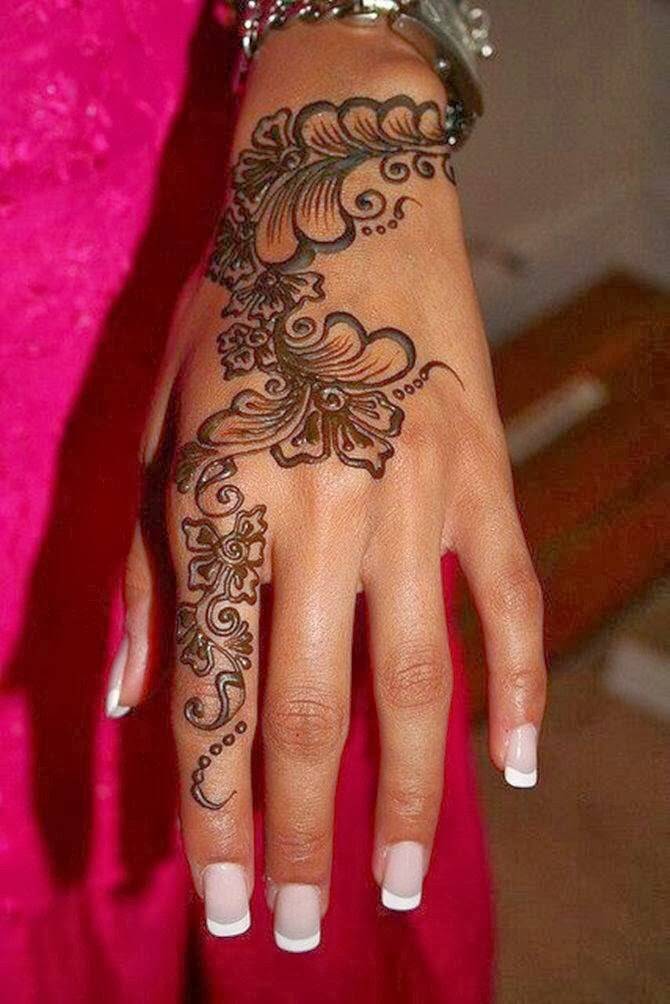 Mehndi Flower Images : Beautiful henna flower designs for any festivals