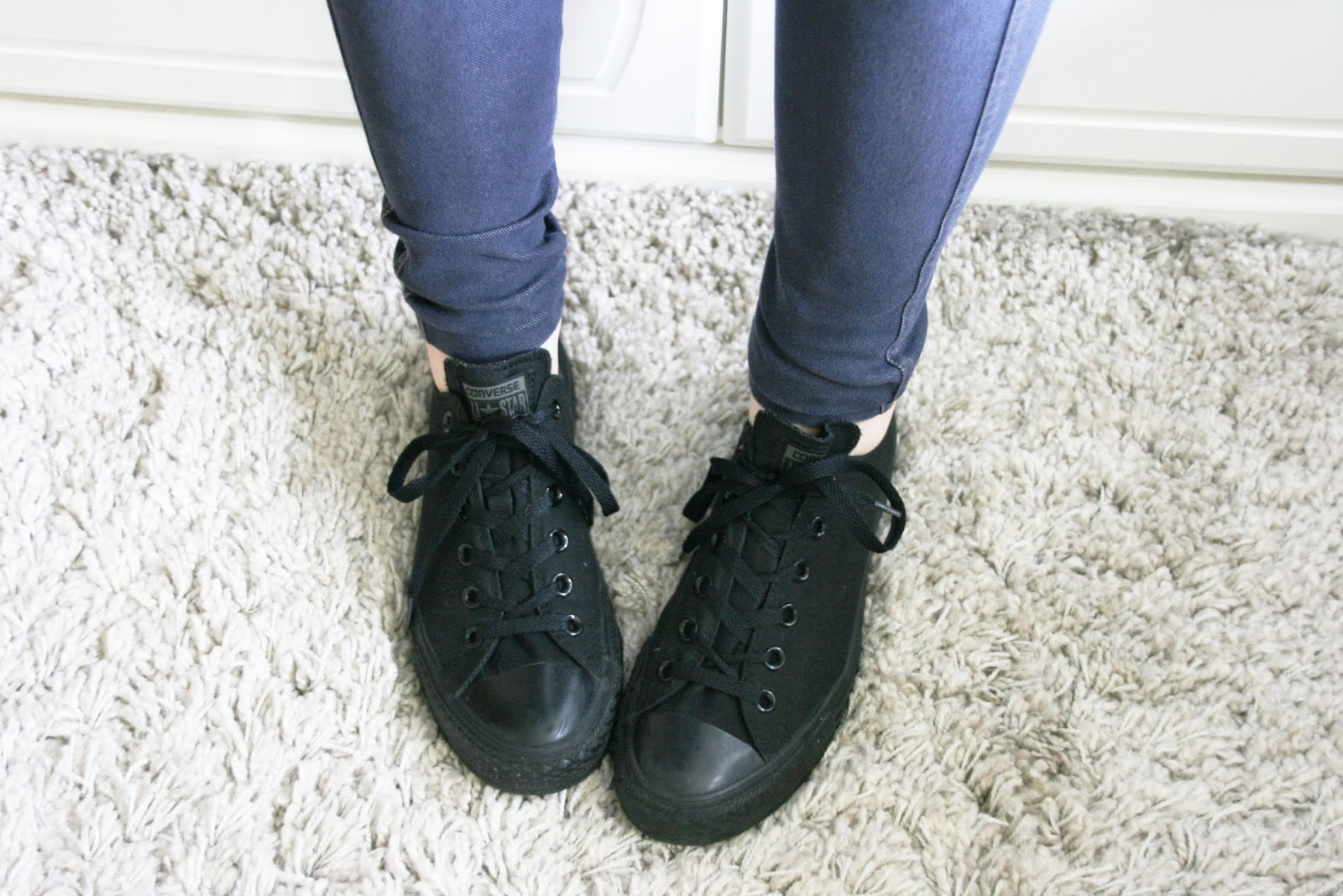 2019 year style- All converse black on feet pictures