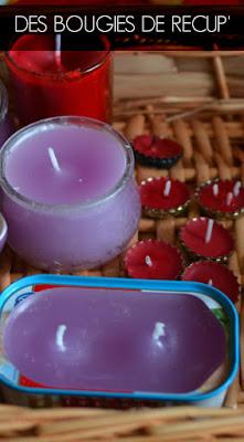 Des bougies de récup'