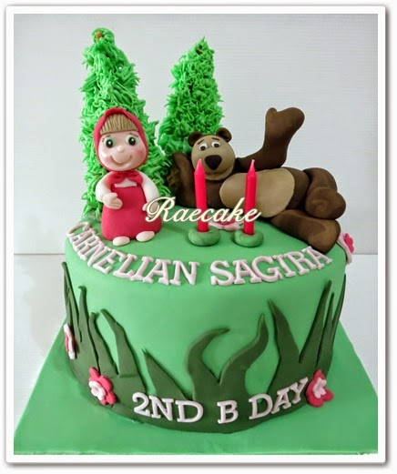 Masha and Bear Cake for Carnelian Kue Ulang Tahun Birthday Cake