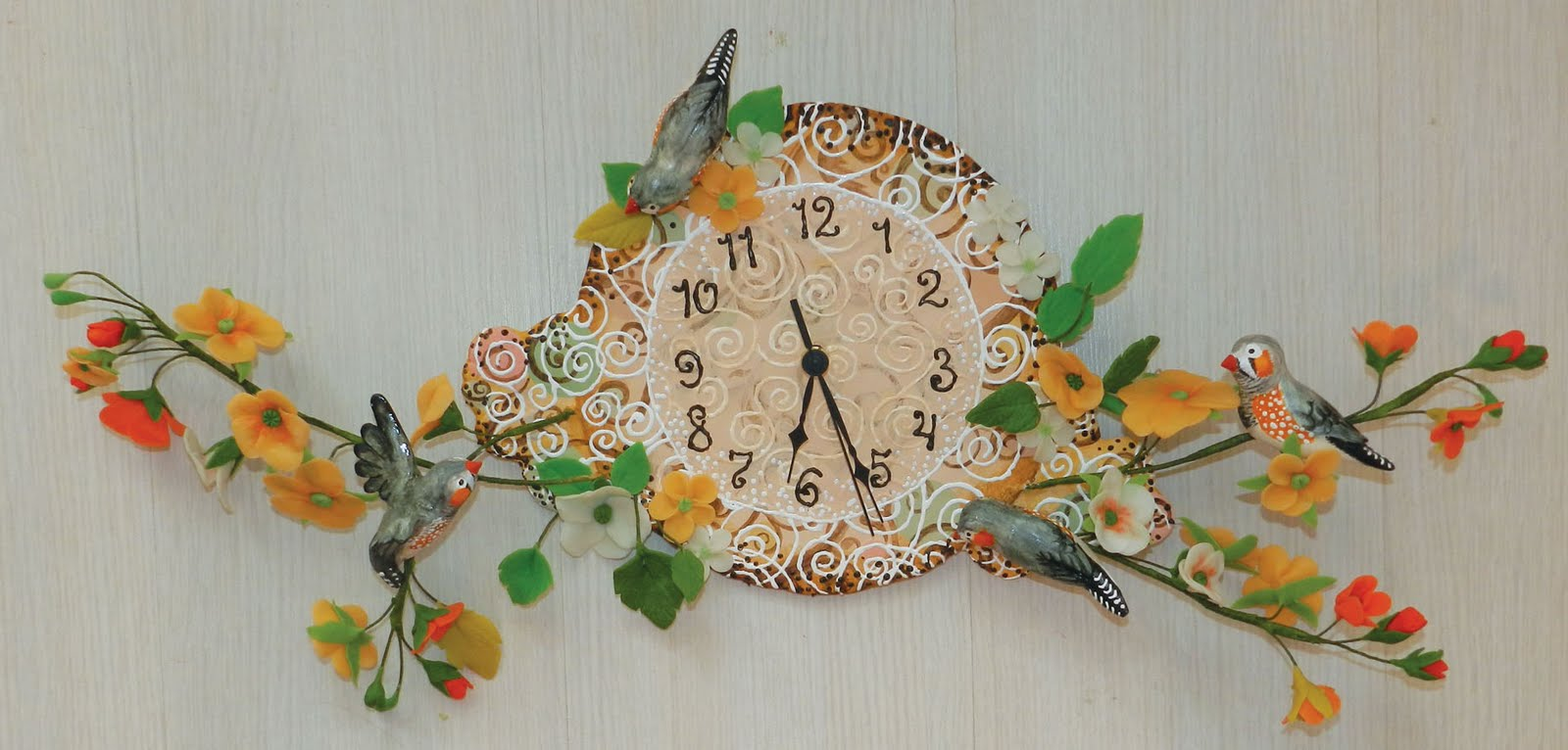 Часы из полимерной глины своими руками