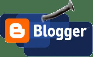 Логотип Blogger прибит гвоздем
