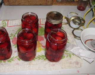 whole crabapples in jars with syrup