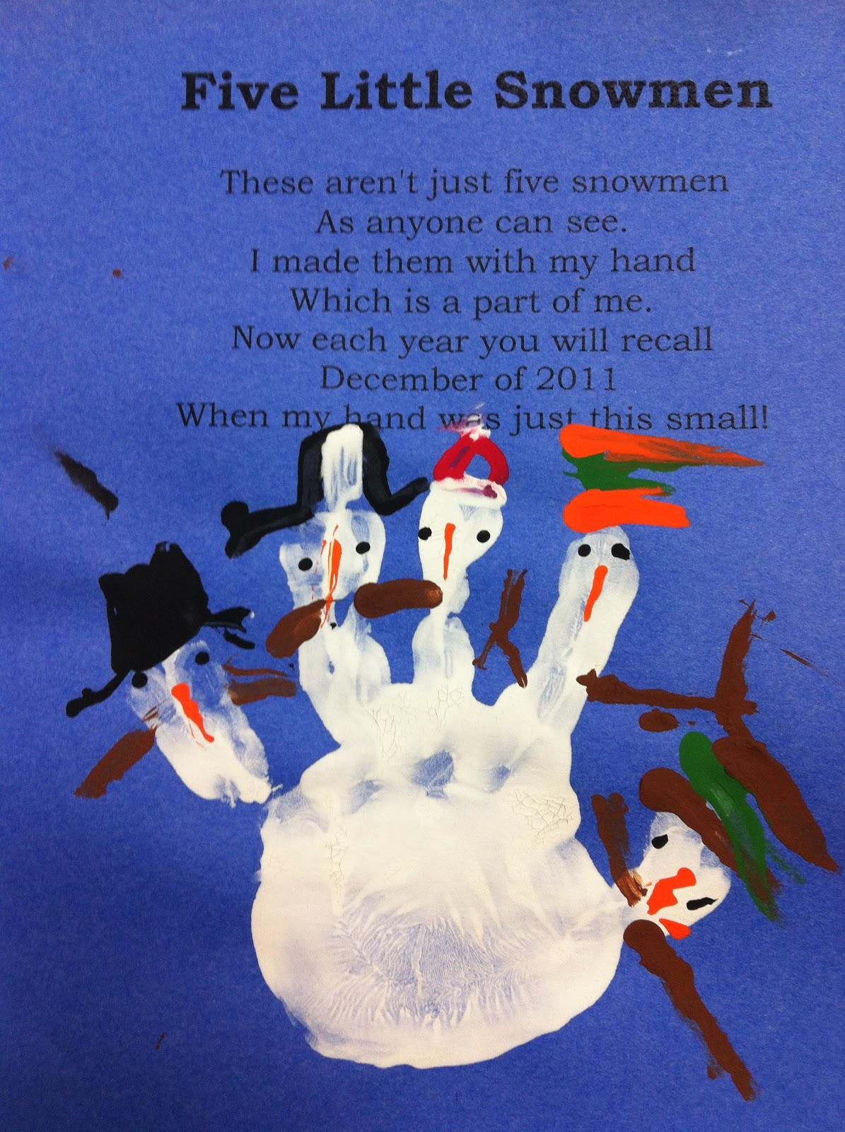 Little Snowmen | New Calendar Template Site