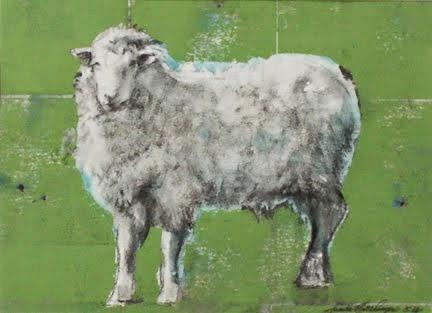 Sheep (on Green Ground)