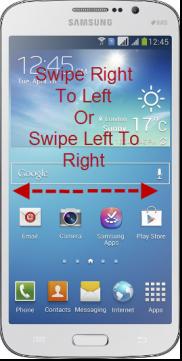 Take Screenshot On Samsung Galaxy Mega With Palm Motion