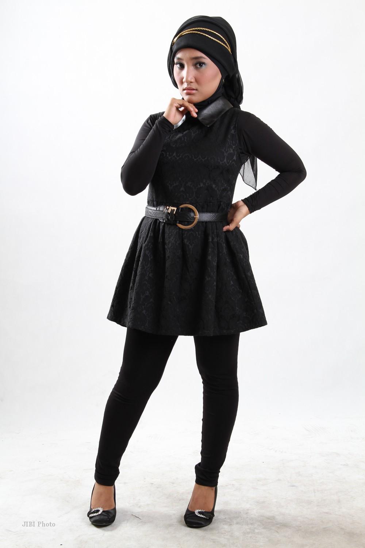 Tutorial Hijab Paris Segi Empat Turban Cara Pakai Hijab ...
