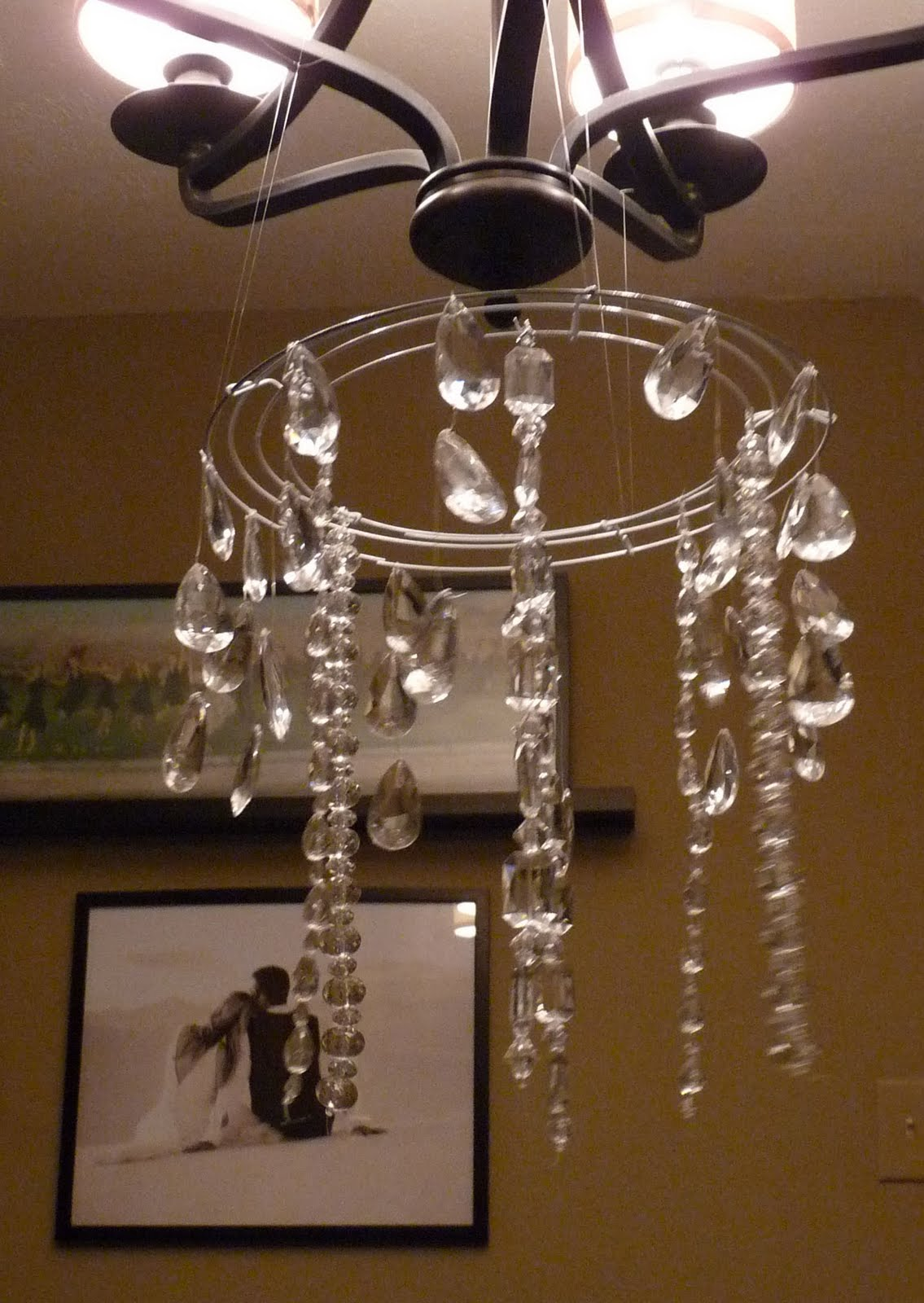 The happy homebodies tutorial diy faux crystal chandelier mozeypictures