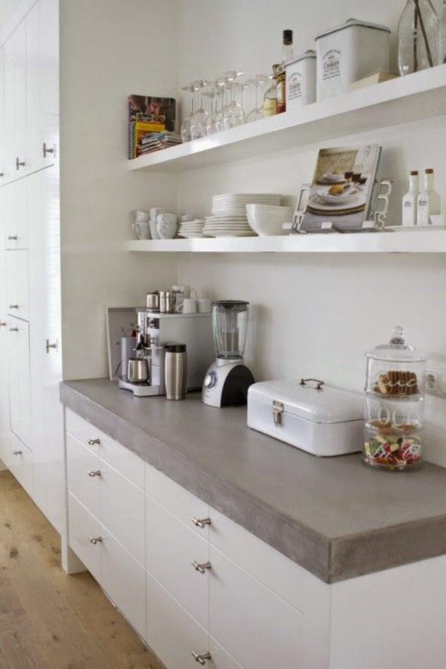 ... inspiratie een keuken zonder bovenkasten  Only Handmade loves