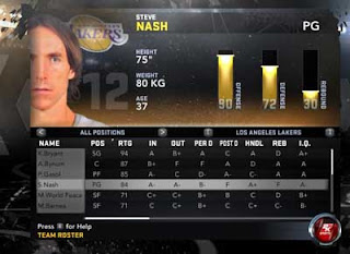 NBA 2K12 Roster changes: L.A. Lakers sign Steve Nash