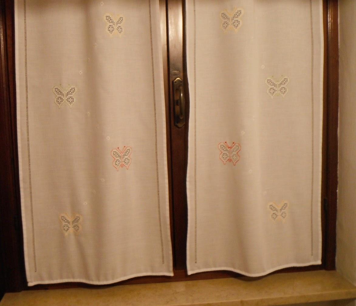 Antichi ricami tende hardanger colorate - Tendine da finestra cucina ...