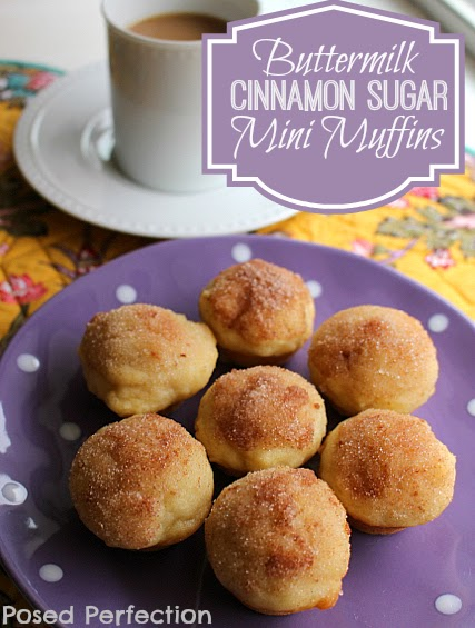 Buttermilk Cinnamon Sugar Mini Muffins