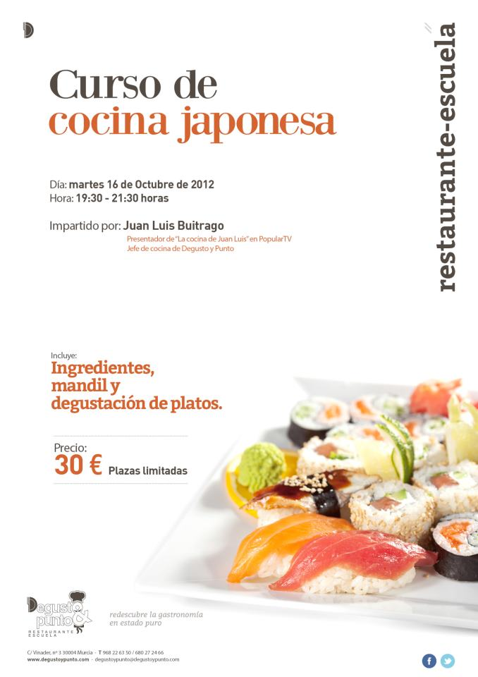 Curso de cocina japonesa en degusto punto for Curso cocina getafe