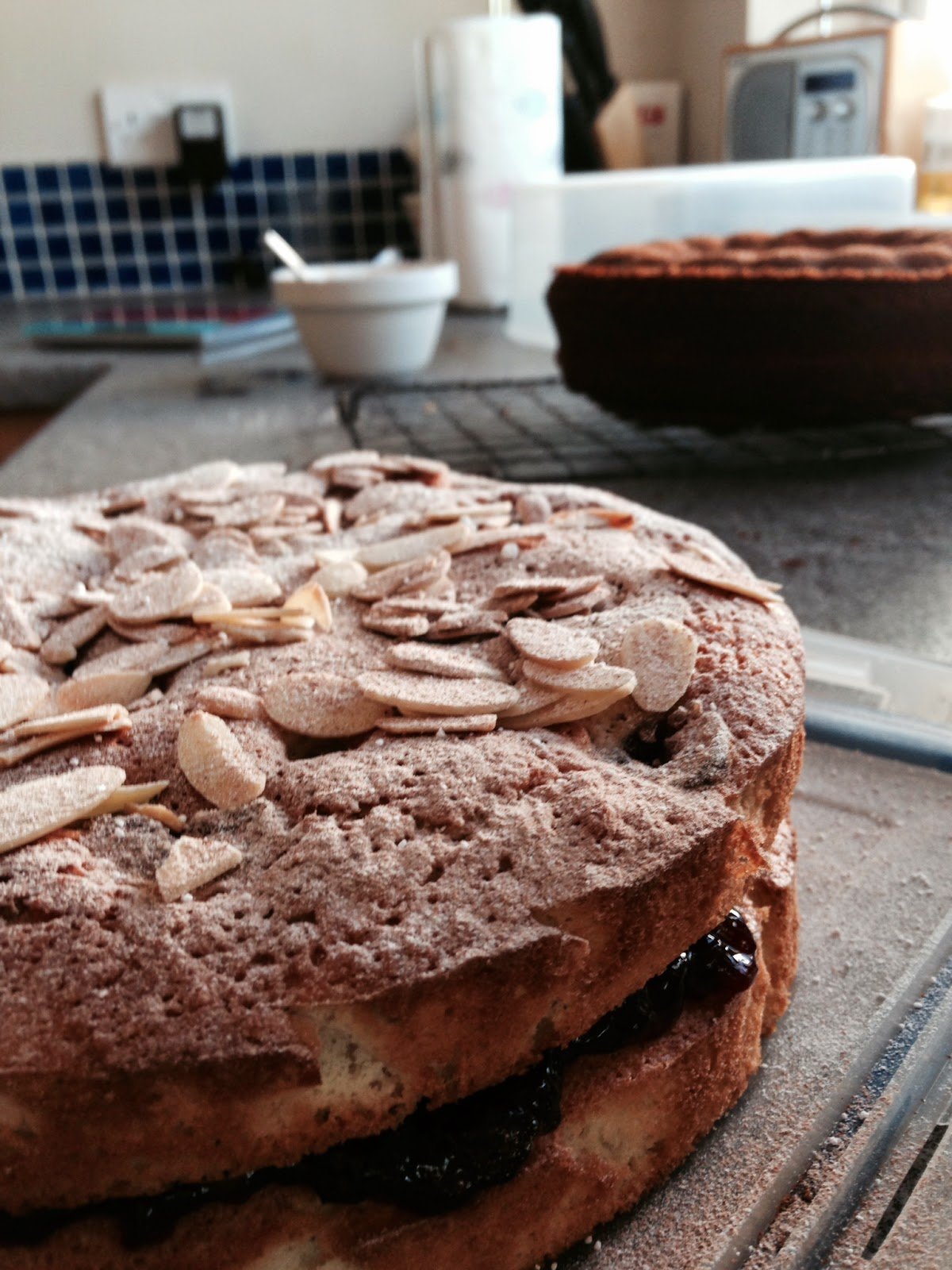 Cherry & Almond Cake - Gluten & Dairy free