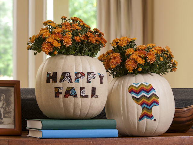 11 Thanksgiving Table Decor Ideas featuring Faux Pumpkin Fall Vases for HP by Amy Anderson
