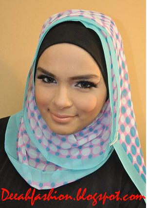 Tips Jilbab Untuk Pipi Tembem Chubby