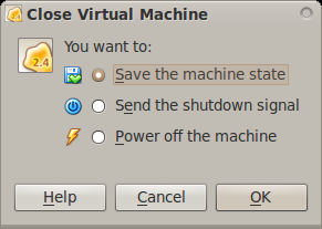 Save the machine state