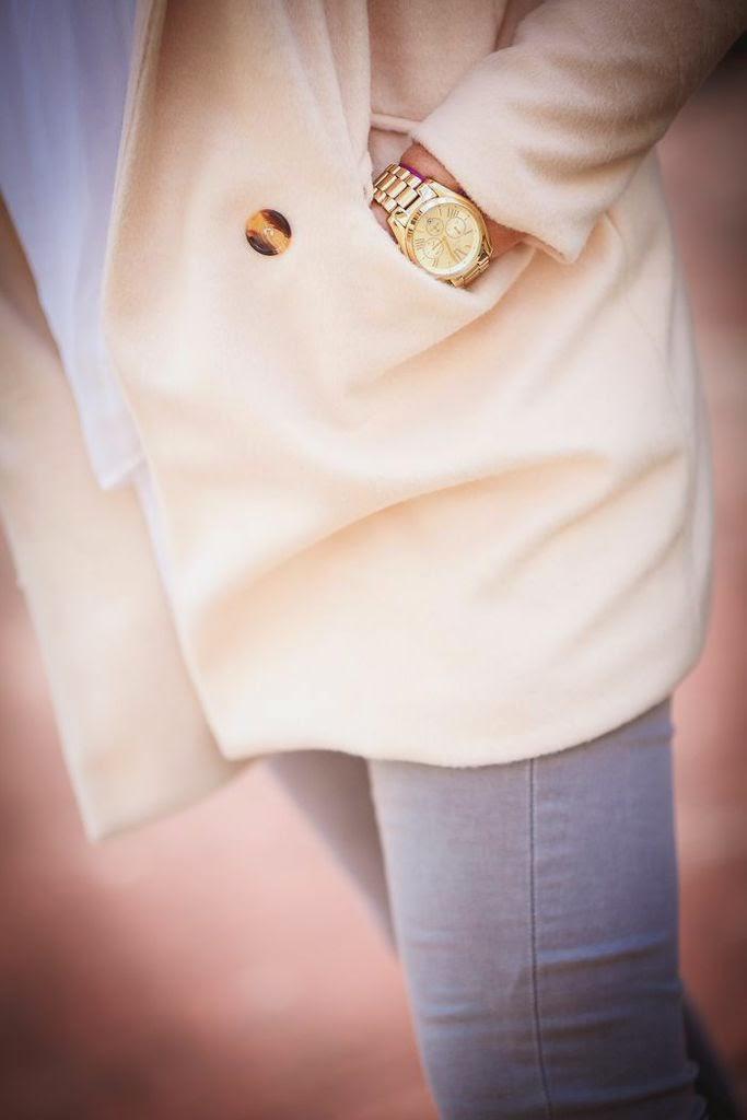 abrigo rosa , pastel , bufanda cuadros , tartan , es cuestion de estilo , Lucia Díez, Outfits, Streetstyle,