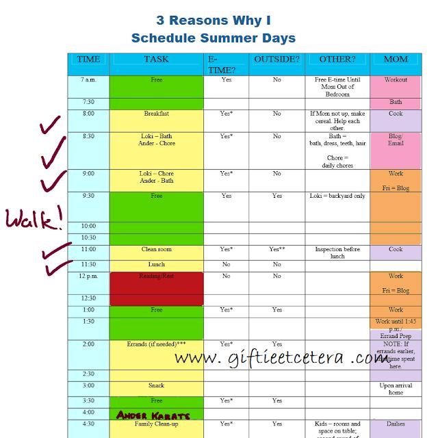 schedule, productivity, parenting, summer school, homeschool