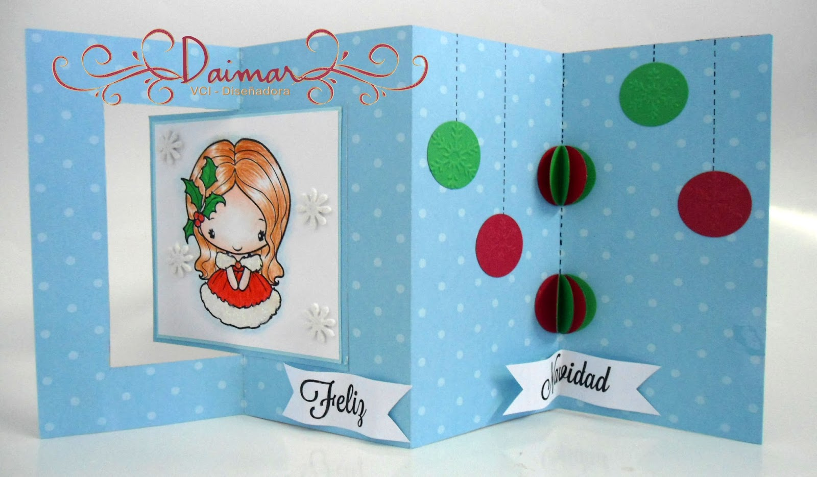 de imagen central use una hermosa anya de the greeting farm como saben me encantan estos sellos - Tarjeta De Navidad En 3d