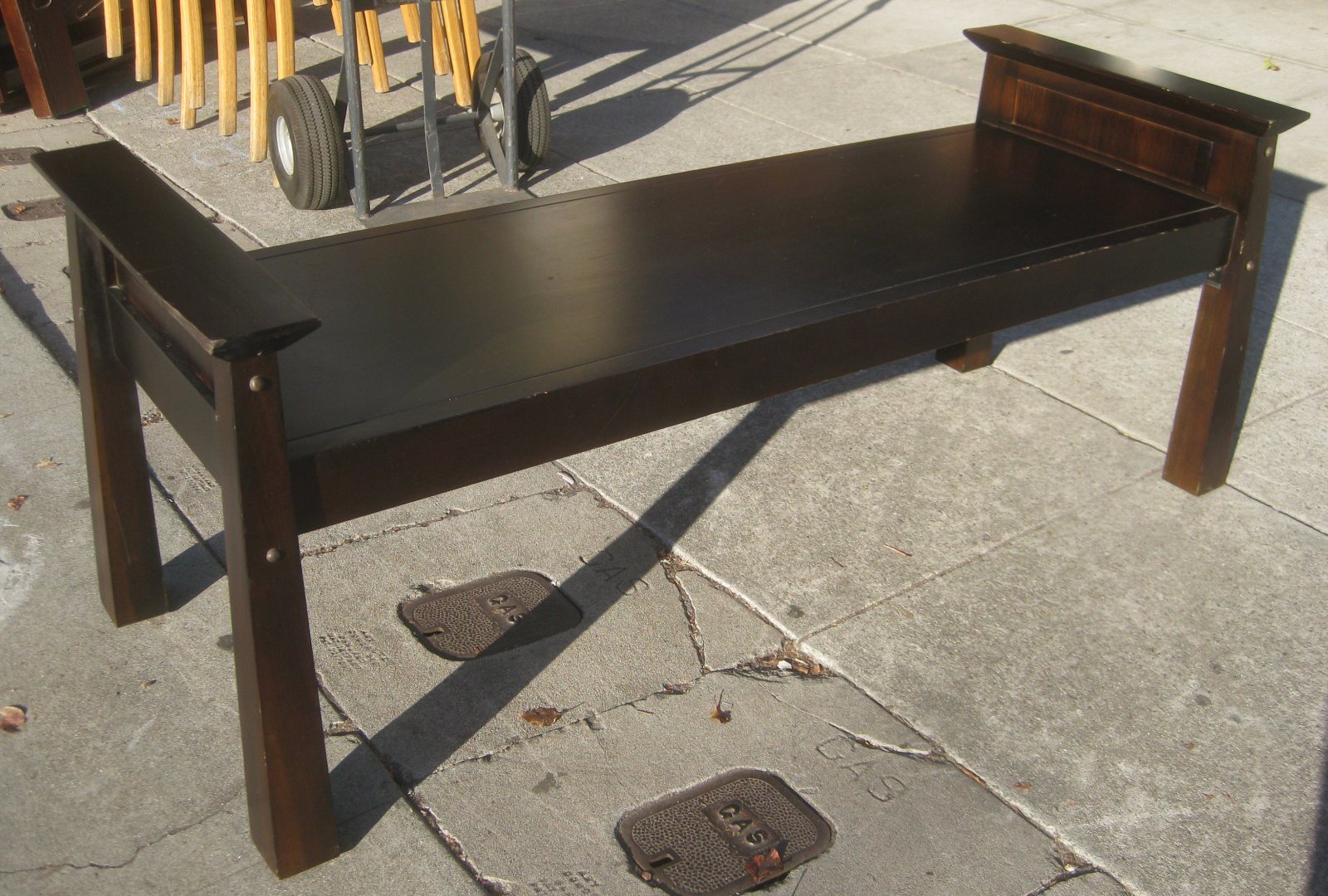 Japanese Style Bench ~ Uhuru furniture collectibles sold asian style wooden