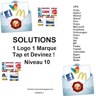 Solution 1 marque 1 logo quiz niveau 10