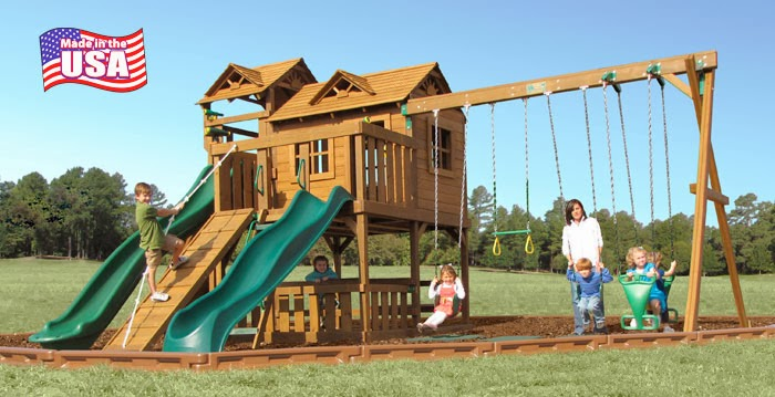 how to fix a leaning swing set