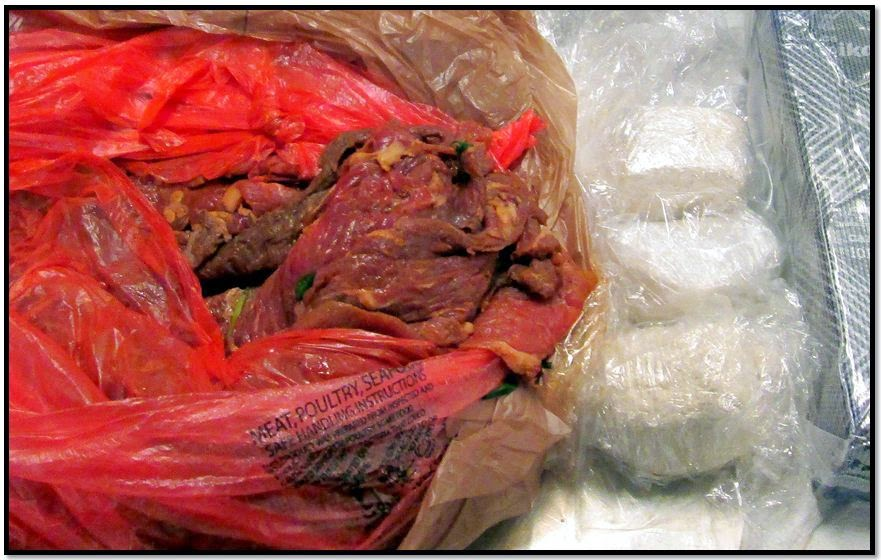 Nearly Three Pounds of Cocaine Discovered in Meat at SJC