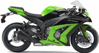 green 2012 Kawasaki Ninja ZX-10R
