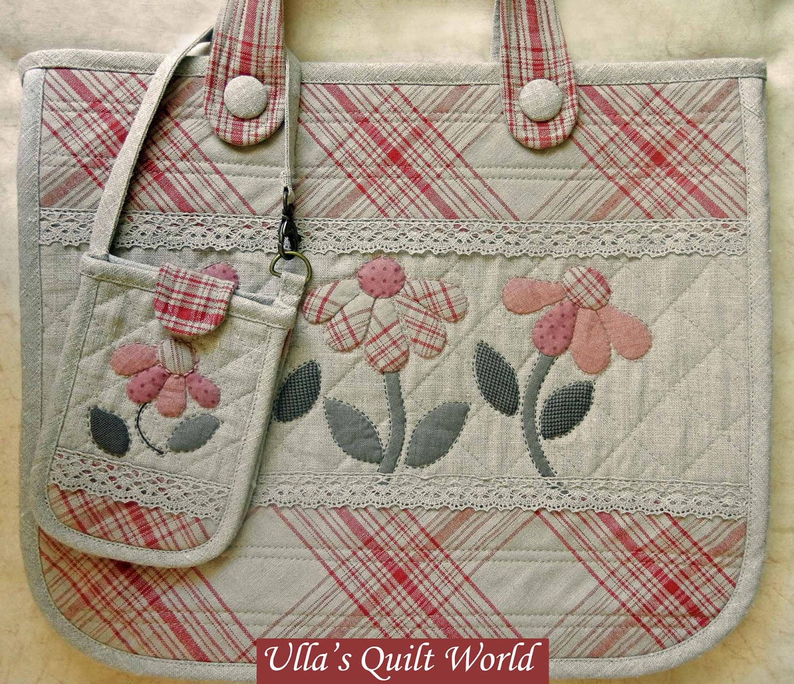 Quilting Patterns For Bags : Ulla s Quilt World: Quilt bag - Japanese patchwork