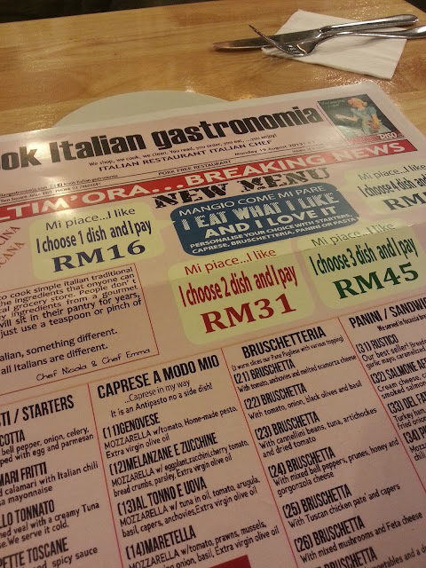 iCook Itallian menu