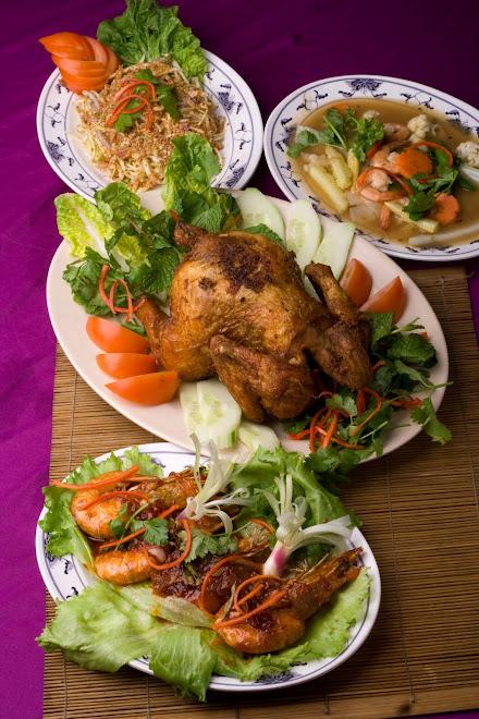 Udang Madu, Ayam Goreng, Sayur Capcai&Kerabu Mangga