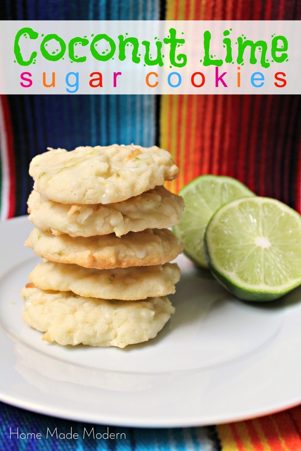 Home Made Modern: 5-Ingredient Coconut Lime Cookies