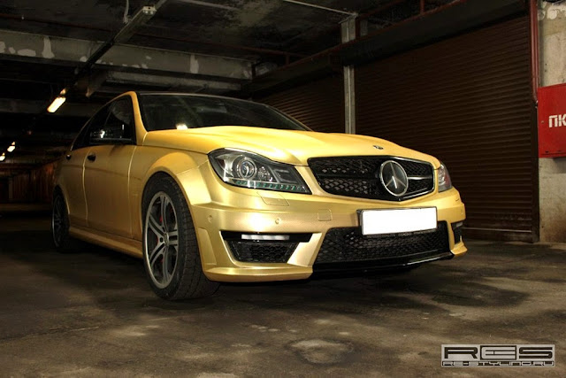 mercedes c 63 amg gold